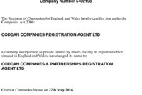 Uk About Company Registration Agent | About Coddan Company regarding Share Certificate Template Companies House