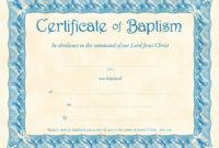 Unique Certificate Of Baptism Template Ideas Broadman inside Baptism Certificate Template Word
