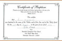 Unique Certificate Of Baptism Template Ideas Broadman intended for Roman Catholic Baptism Certificate Template
