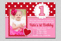 Unique Ideas For First Birthday Party Invitations Templates regarding First Birthday Invitation Card Template