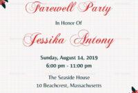 Unique Invitation Card For Teachers On Farewell Party pertaining to Farewell Invitation Card Template