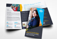 University College Tri Fold Brochure Templateowpictures with regard to Tri Fold School Brochure Template