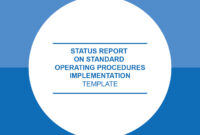 Unsdg | Status Report On Sops Implementation – Template regarding Implementation Report Template