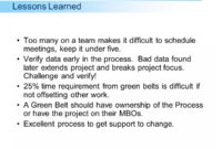 Unusual Project Closure Lessons Learned Examples Example within Project Closure Report Template Ppt