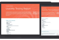 Usability Testing Report Template And Examples | Usability in Test Result Report Template