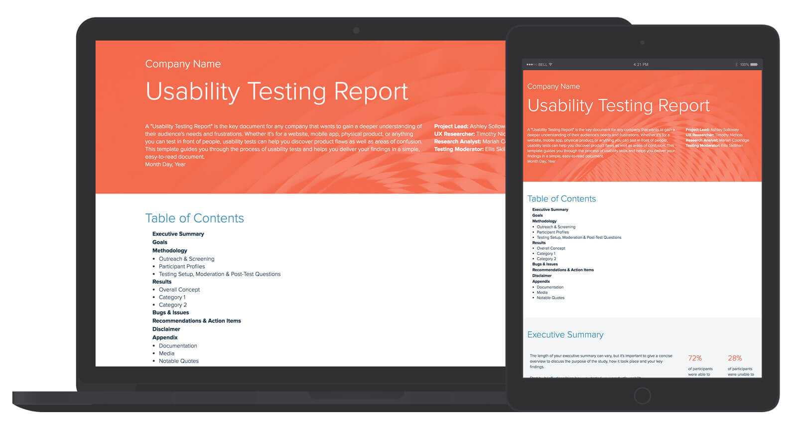 Usability Testing Report Template And Examples | Xtensio Pertaining To Usability Test Report Template