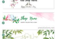 Valentine Blog And Website Header/ Etsy Valentine Banner intended for Free Etsy Banner Template