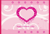 Valentine Card Template pertaining to Valentine Card Template Word