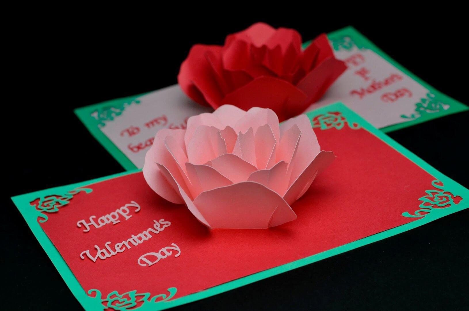 Valentine's Day Card: Rose Pop Up Card Revisited | Pop Up Regarding Diy Pop Up Cards Templates