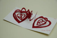 Valentine's Day Pop Up Card: Spiral Heart Tutorial with Pop Out Heart Card Template