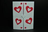 Valentine's Day Pop Up Card: Twisting Heart   Pop Up Card in Twisting Hearts Pop Up Card Template