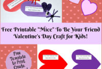 Valentine's Day Printable Card Crafts For Kids To Create regarding Valentine Card Template For Kids