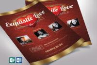 Valentines Dinner Dance Flyer Word Publisher Template On Behance within Dance Flyer Template Word