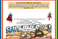 Vbs Certificate Superhero Red Capes | Vacation Bible School with regard to Free Vbs Certificate Templates
