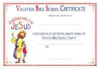 Vbs Certificate Templatesencephalos | Encephalos inside Christian Certificate Template