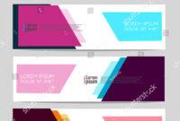Vector Abstract Design Web Banner Template Stock Vector regarding Event Banner Template