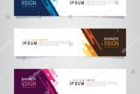 Vector Abstract Web Banner Design Template. Collection Of regarding Website Banner Design Templates