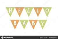 Vector Baby Shower Banner Template. Scandinavian Design within Baby Shower Banner Template