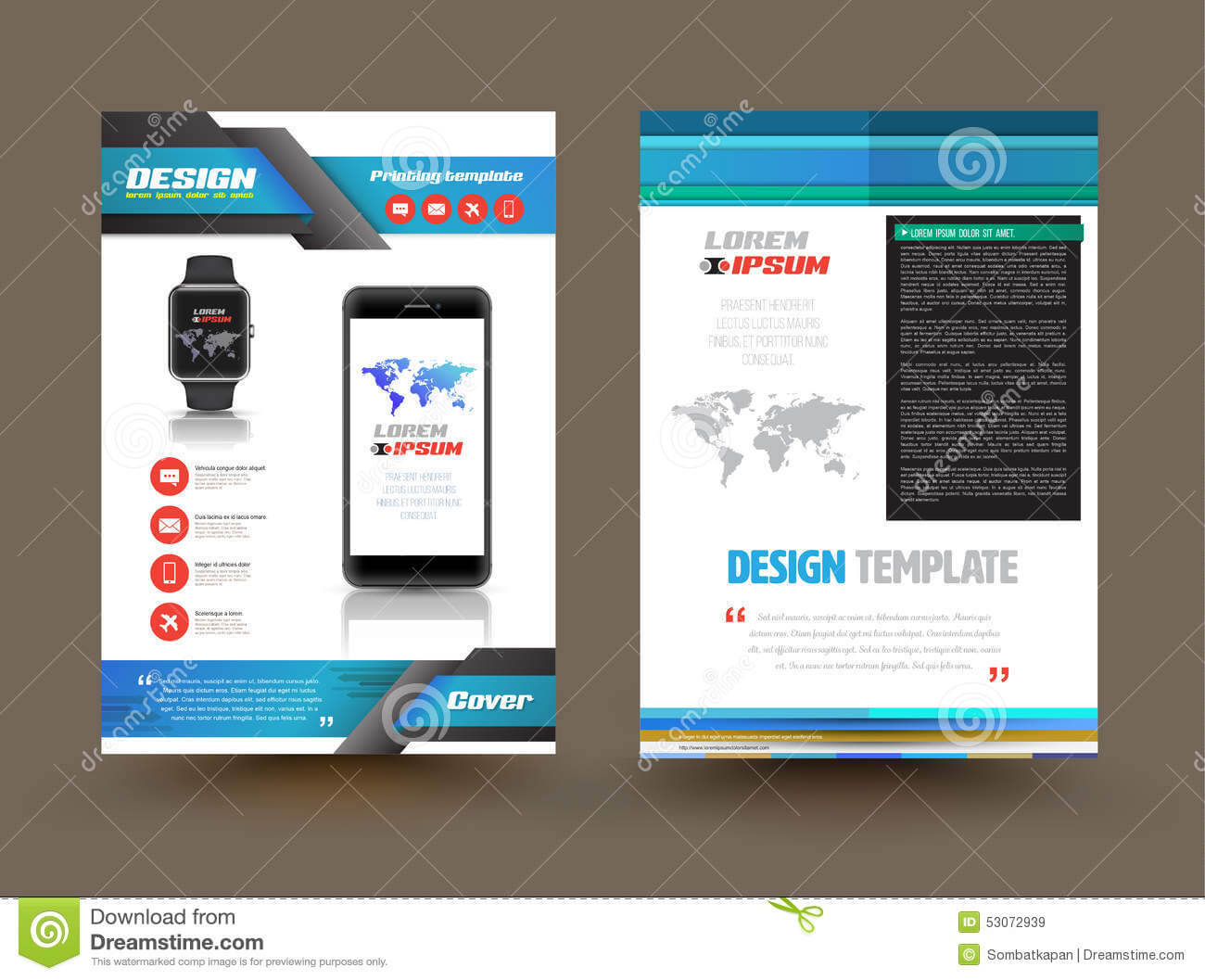 Vector Brochure Template Design For Technology Product Within Technical Brochure Template