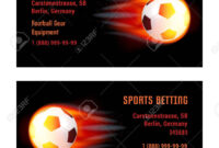 Vector Card Football Ball With Fire. Template For Football Club.. intended for Football Betting Card Template