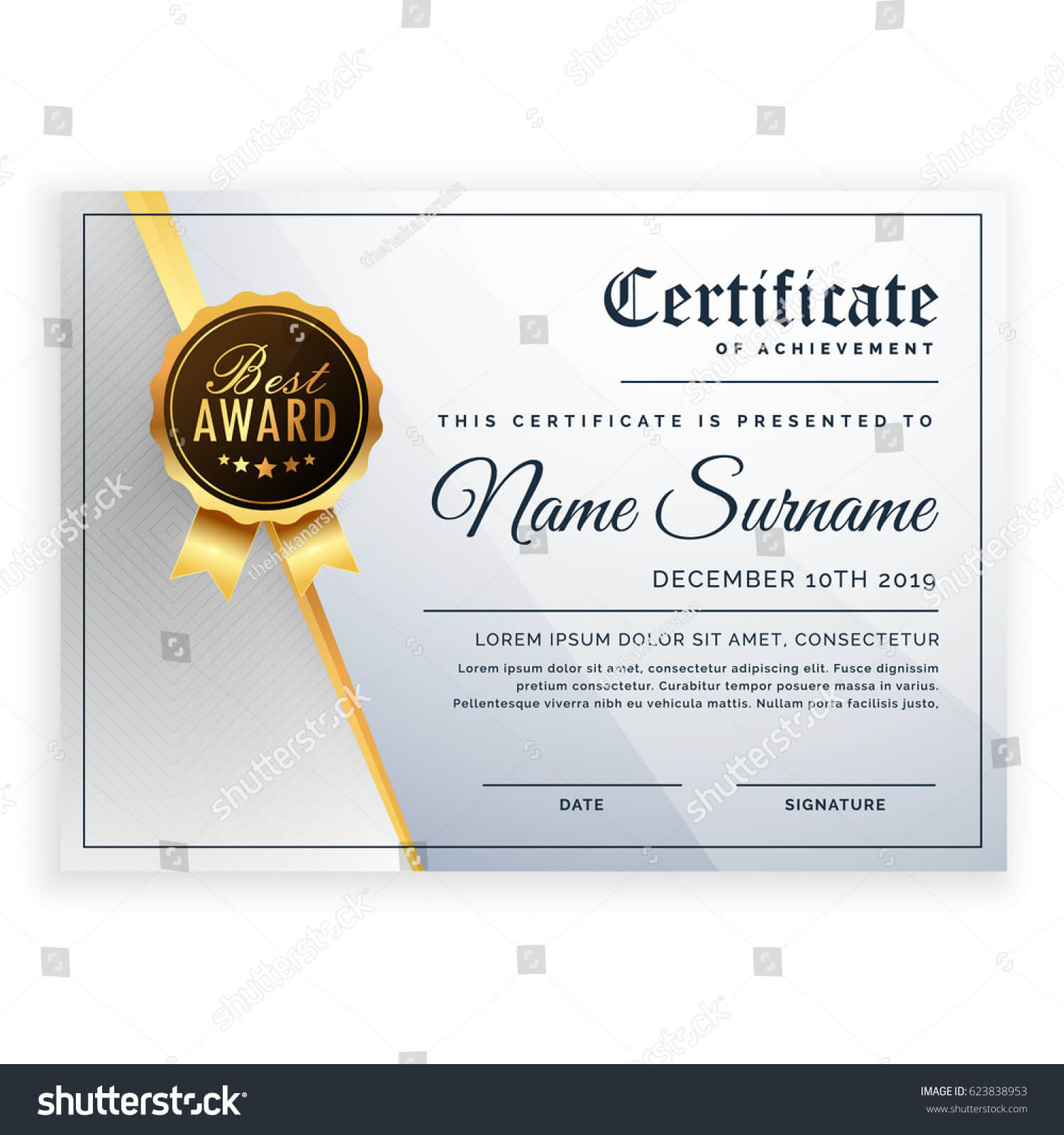 Vector Certificate Template Beautiful Certificate Template For Beautiful Certificate Templates
