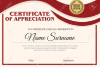 Vector Certificate Template. Certificate In A4 Size Pattern. with Certificate Template Size