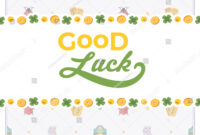 Vector Decorating Design Made Lucky Charms Stock Vector Pertaining To Good Luck Card Template