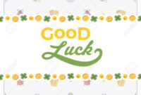 Vector Decorating Design Made Of Lucky Charms, And The Words.. In Good Luck Card Templates