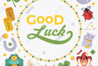 Vector Decorating Vector & Photo (Free Trial)   Bigstock Intended For Good Luck Card Template