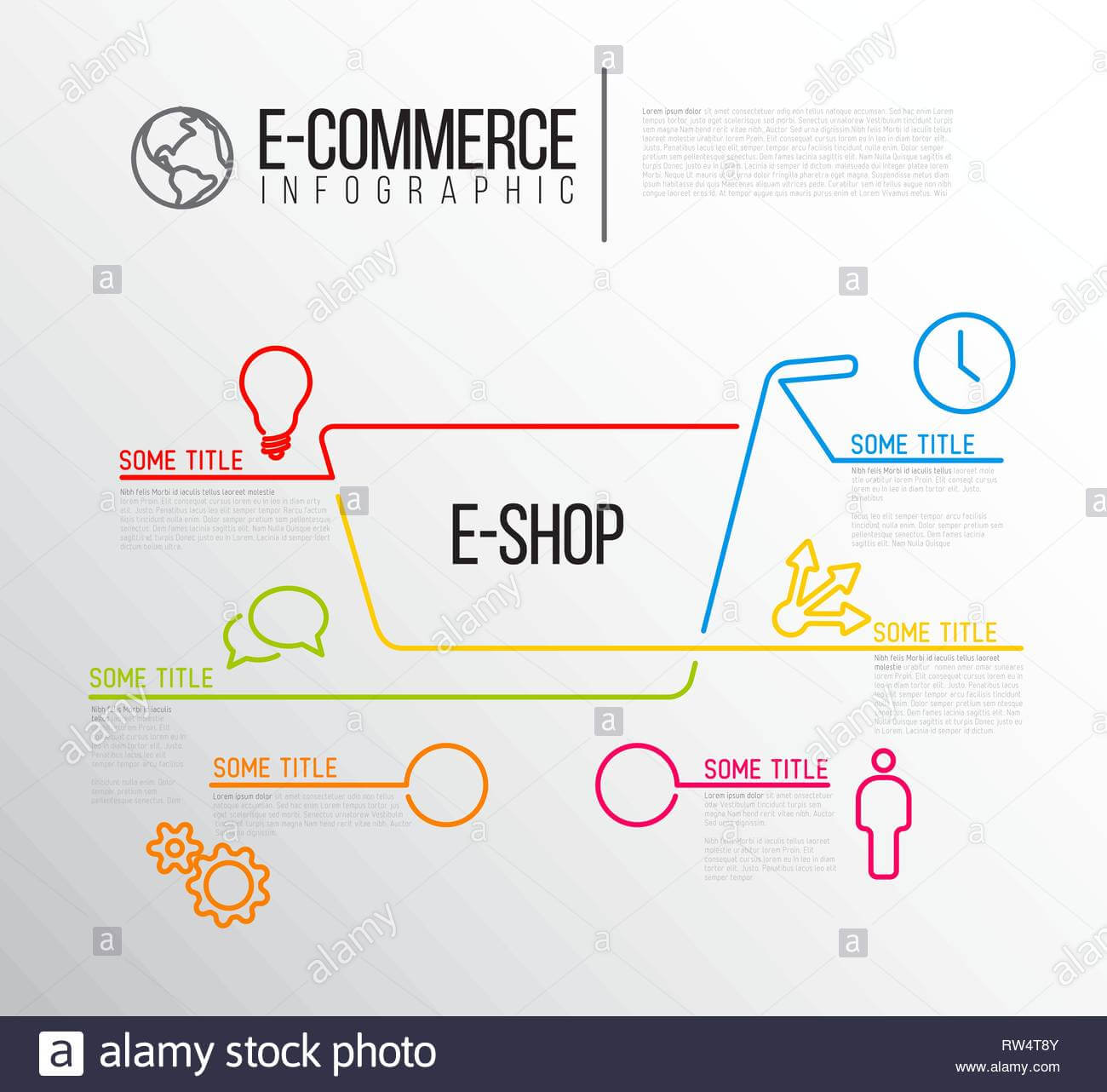 Vector E Commerce E Shop Infographic Report Template Made Inside Illustrator Report Templates
