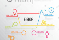 Vector E-Commerce E-Shop Infographic Report Template Made intended for Shop Report Template