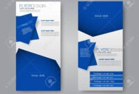 Vector Flyer And Leaflet Design. Set Of Two Side Brochure Templates pertaining to Ngo Brochure Templates