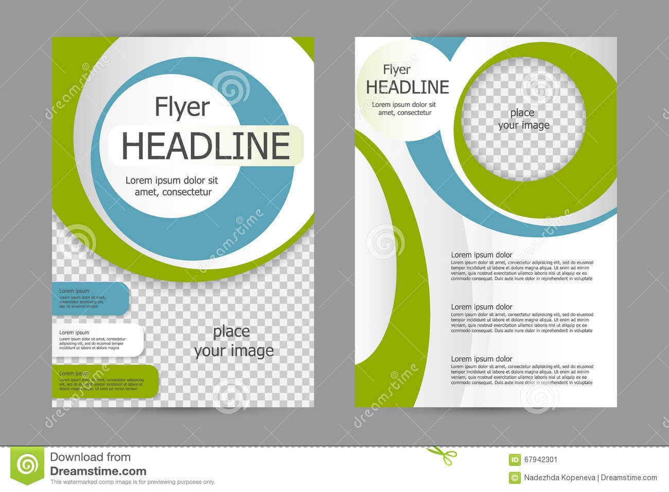 Vector Flyer Template Design Stock Vector – Illustration Of For Training Brochure Template