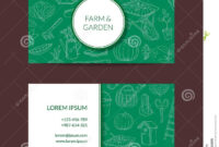 Vector Gardening Doodle Icons Business Card Stock Vector in Gardening Business Cards Templates