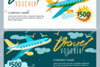 Vector Gift Travel Voucher Template Multicolor Stock Vector regarding Free Travel Gift Certificate Template
