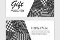 Vector Gift Voucher Template With Abstract Triangle for Black And White Gift Certificate Template Free