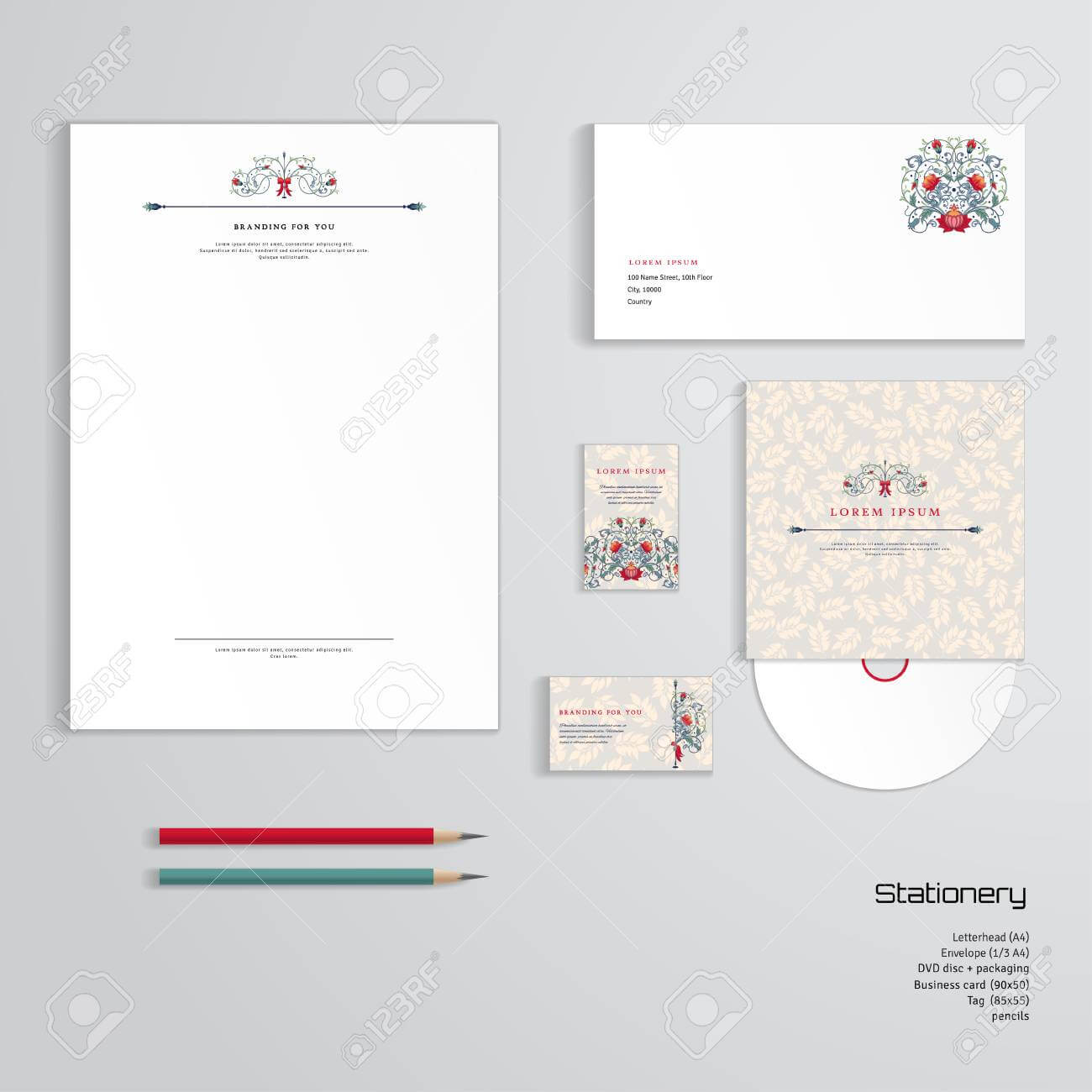 Vector Identity Templates. Letterhead, Envelope, Business Card,.. In Business Card Letterhead Envelope Template