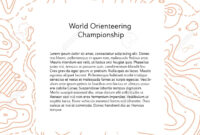 Vector Illustration Of Orienteering Map With Text Place. Topo.. throughout Orienteering Control Card Template