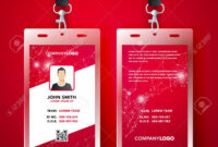 Vector Illustration Red Corporate Id Card Design Template Set with regard to Company Id Card Design Template