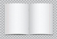 Vector Opened Realistic Squared Elementary School Copybook Intended For Staples Banner Template