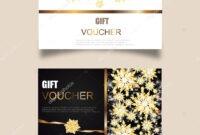 Vector Set Luxury Gift Vouchers Ribbons Gift Box Elegant inside Elegant Gift Certificate Template