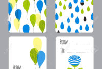 Vector Set Of Small Card Templates With Place For Text. For Greeting.. with Small Greeting Card Template