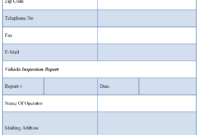 Vehicle Inspection Report Template | Editable Forms regarding Vehicle Inspection Report Template