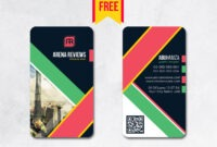 Vertical Business Card Design Psd – Free Download | Arenareviews for Business Card Size Psd Template