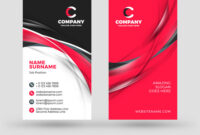 Vertical Double-Sided Business Card Template intended for Double Sided Business Card Template Illustrator