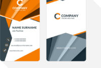 Vertical Double-Sided Business Card Template With throughout Double Sided Business Card Template Illustrator