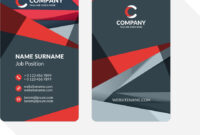 Vertical Double-Sided Business Card Template With with Double Sided Business Card Template Illustrator