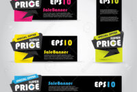 Vibrant Sale Banner Template, Horizontal Advertising Business.. throughout Product Banner Template