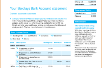 Viewing Gallery For – Bank Account Statement In 2020 for Credit Card Bill Template