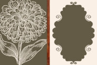 Vintage Flower Card Template Ai, Svg, Eps File | Free pertaining to Free Svg Card Templates
